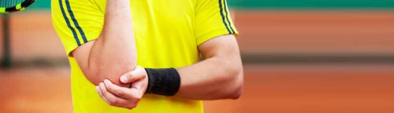 Tenniselleboog blessure